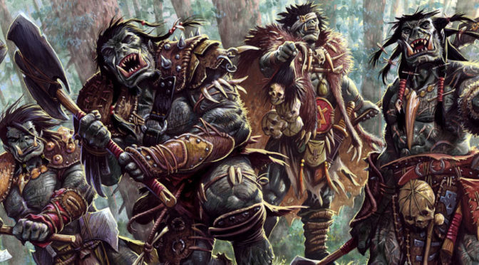 An orc war party prepares for combat.
