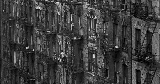 A tenement in New York City.