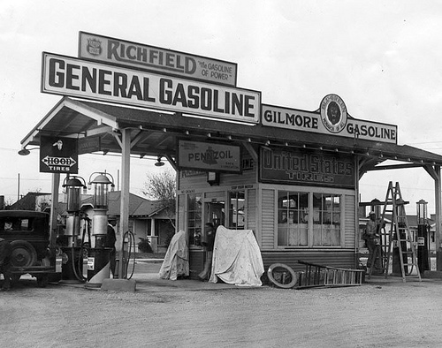 The Queenston General Gas Station. Owned by Old Man Gilmore.