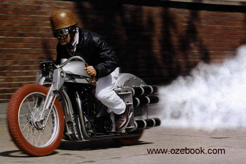 Martindrake's rocket motorcycle.