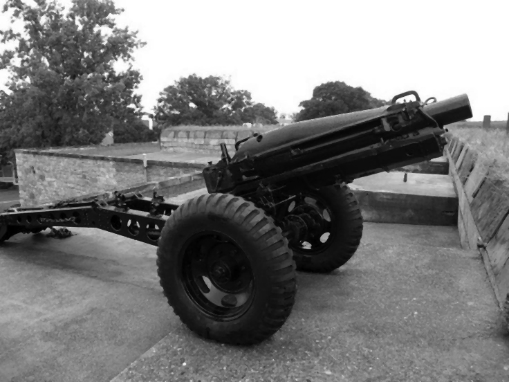 The howitzer the Wardens liberated for their fight with the Terror in the Woods.