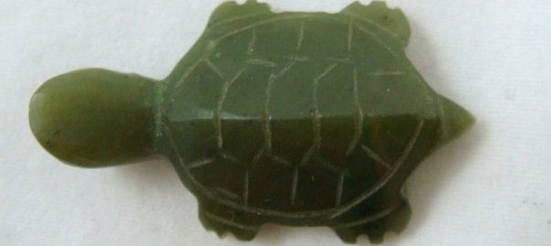 A small jade turtle.